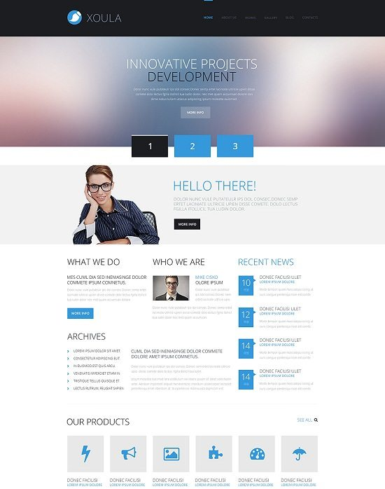 XOULA Consulting Responsive WordPress Theme