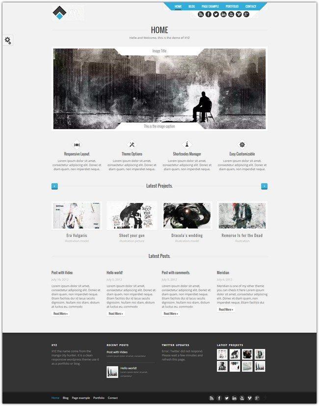 XYZ – Responsive Creative WordPress Theme