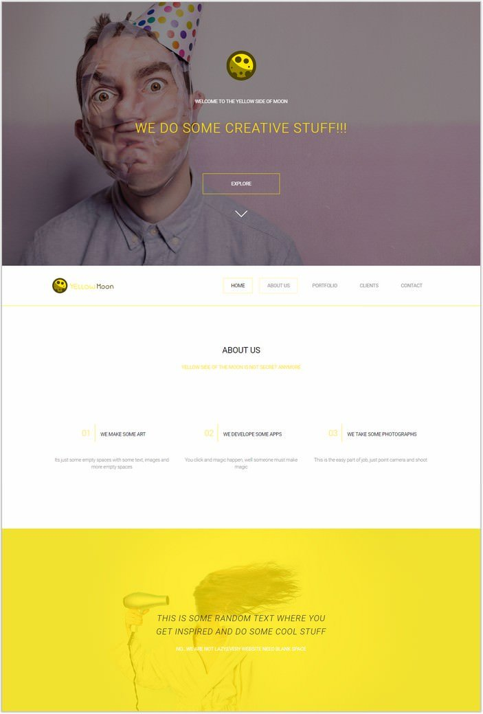 YellowMoon - Free HTML Landing Page