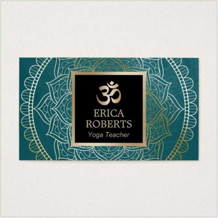 Yoga & Meditation Teacher Business Card