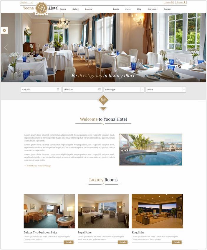 Yoona - Hotel & Resort Responsive HTML Template