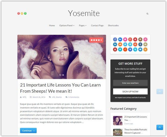 Yosemite WordPress Theme