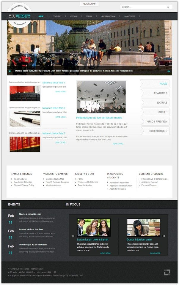 Youversity Education Joomla Template