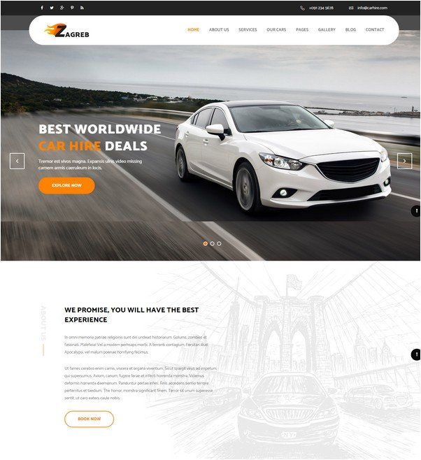 Zagreb - Limousine / Transport / Car Hire Template