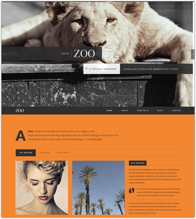 Zoo - Responsive One Page Parallax Theme