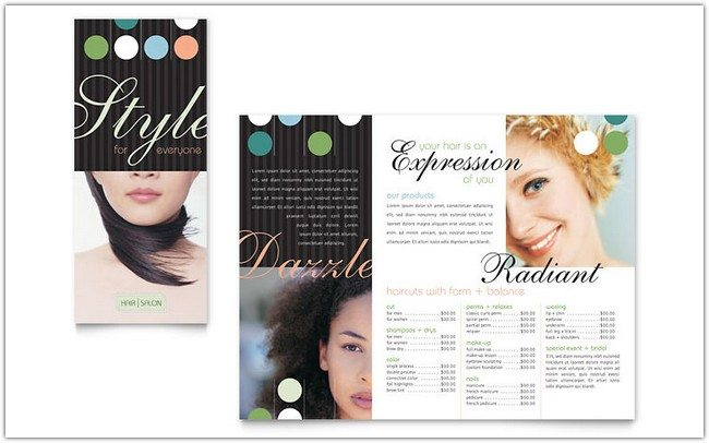 beauty & hair salon brochure