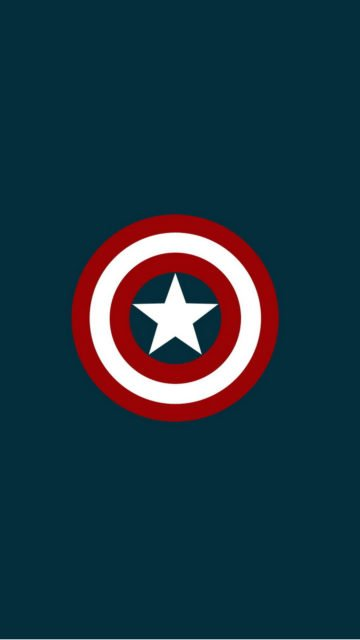 Captain America Star Background Iphone Wallpaper