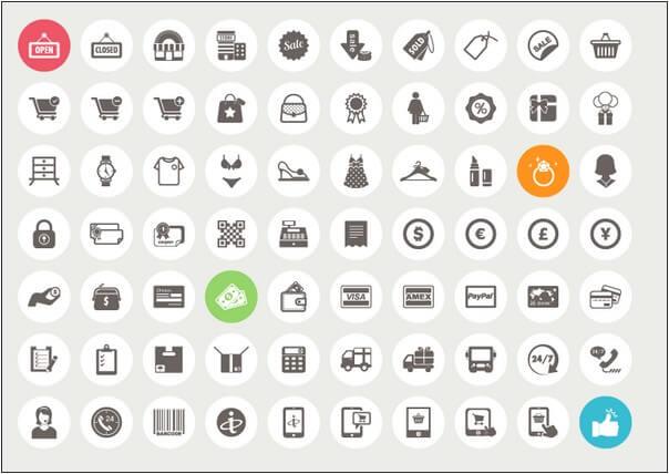 eCommerce Shopping Icon Set