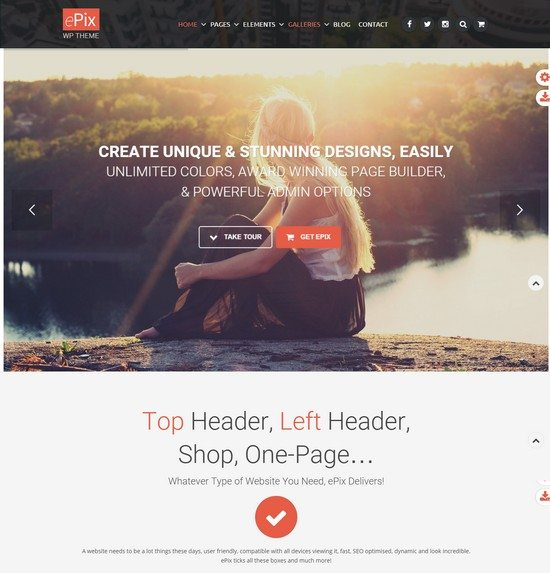 ePix – Fullscreen Photography WordPress Theme