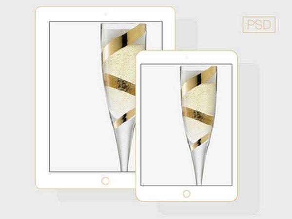 flat iPad 5 + iPad Mini Champagne