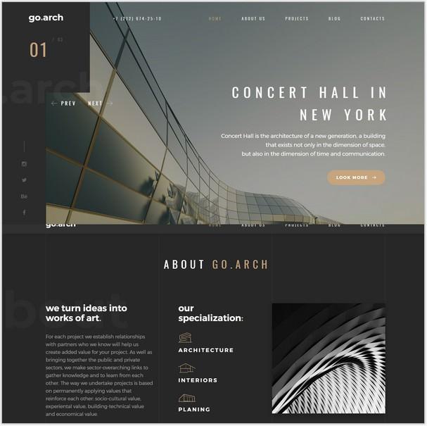 go.arch - Architecture & Interior Template