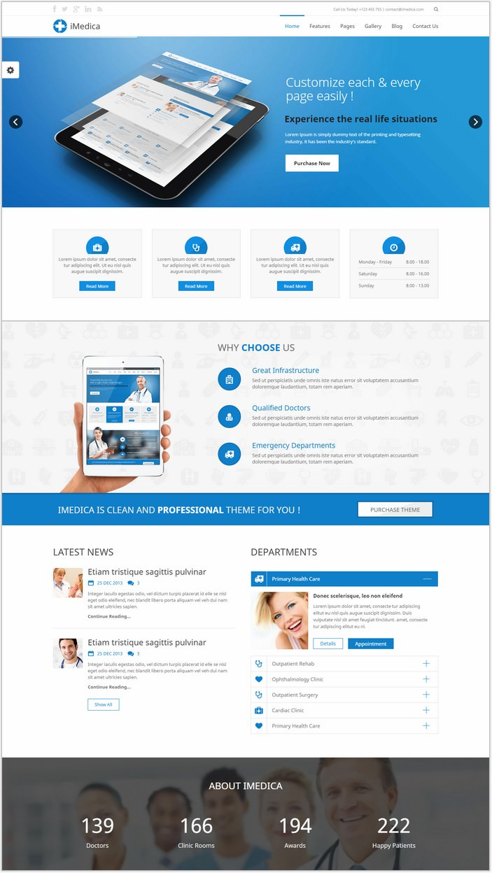 iMedica - Flat, Responsive Medical & Health Template