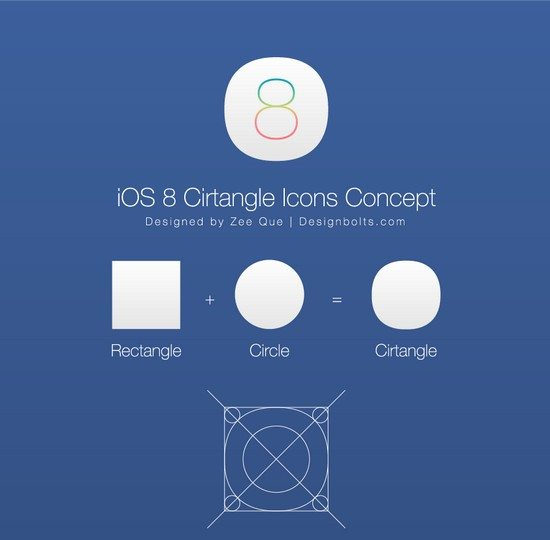 iOS 8 Cirtangle Icons Concept
