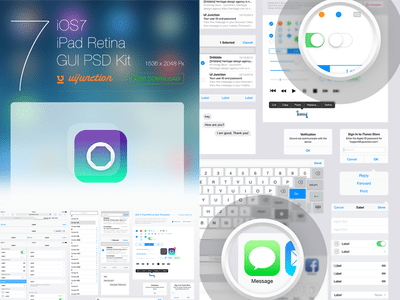 iOS7 iPad GUI Template