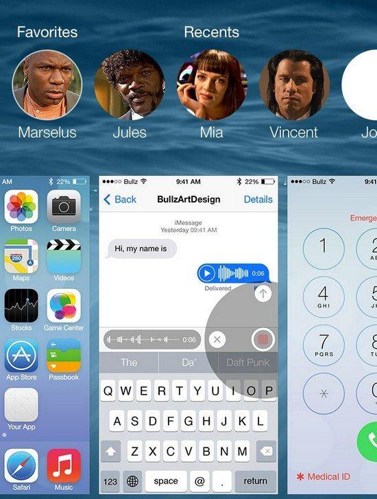 iOS8 GUI PSD