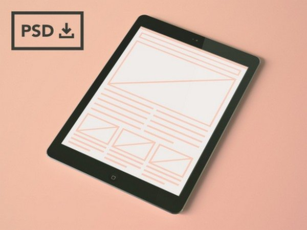 iPad Air Mockup Templates [PSDs]