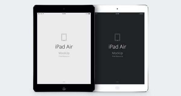 iPad Air Psd Vector Mockup