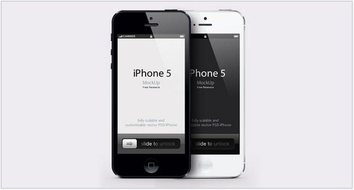 iPhone 5 Psd Vector Mockup