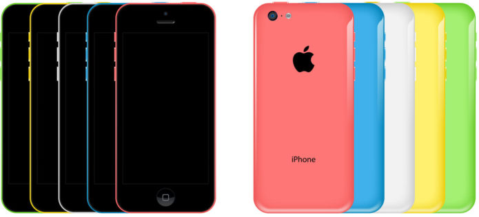 iPhone 5C free vector