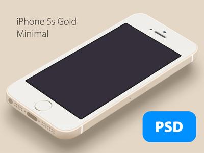 iPhone 5s Minimal Gold – Free PSD
