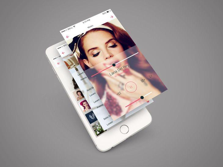 iPhone 6 App Screen PSD Mockup
