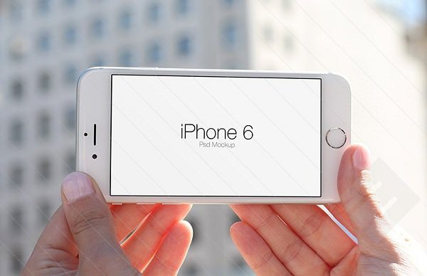 iPhone 6 In Hand Psd Mockups