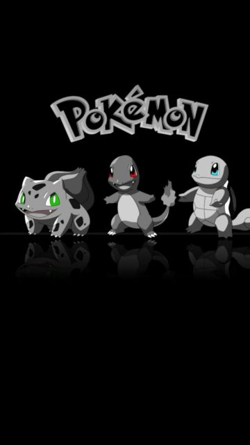 Pokemon black background wallpaper