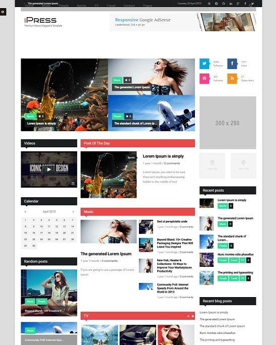 iPress - Responsive News Magazine Drupal theme