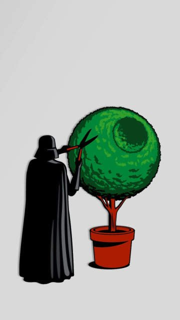 iphone-darth-vader-bush-prune-work