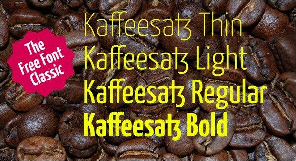 kaffeesatz Font