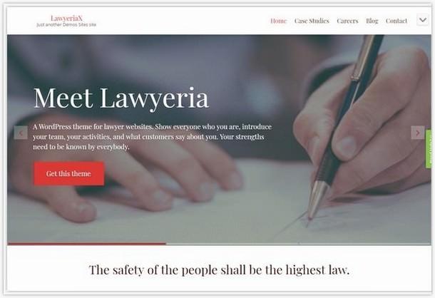 lawyeriax Lawyer WordPress Theme
