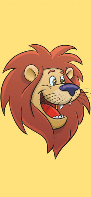lion-cartoon-art-Iphone-x-wallpapers