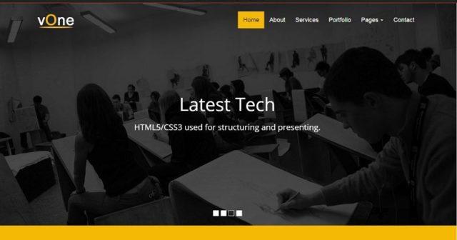 vOne – Free Business HTML5 Responsive Website