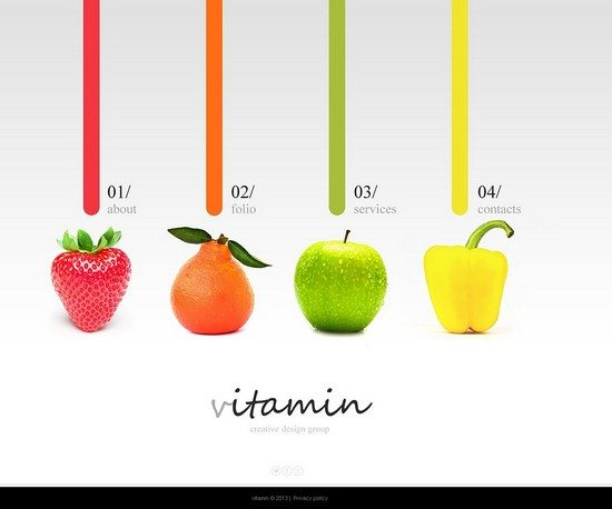 vitamin Design Studio Website Template