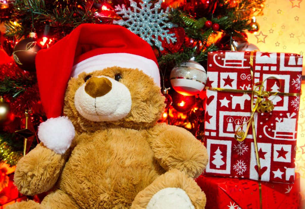 teddy bear merry christmas wallpaper