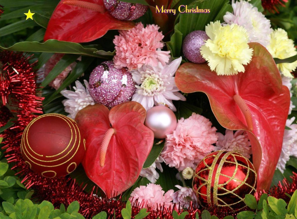 merry christmas decoration flower balls