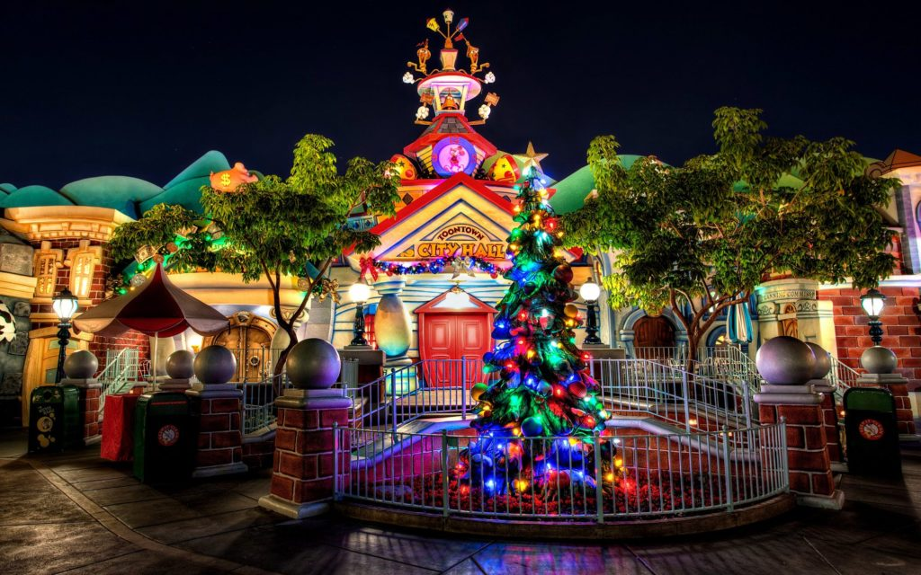 christmas celebration in toon town City Hall
