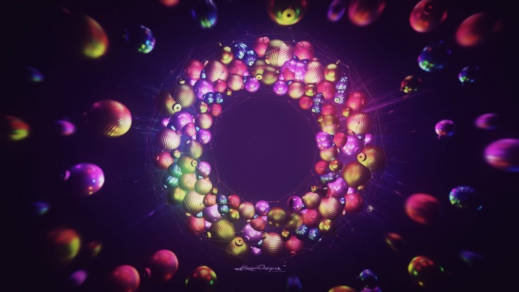 colorful balls christmas wallpaper
