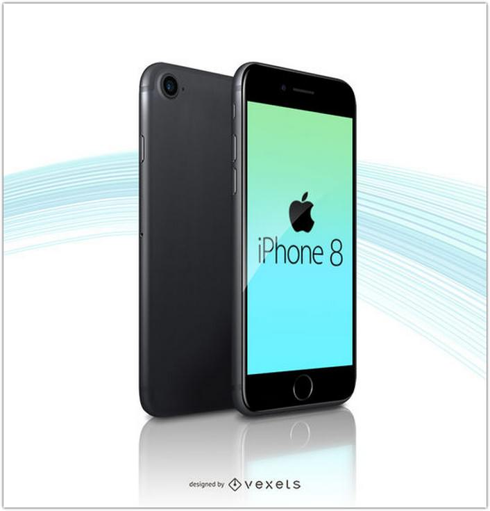 Apple Iphone 8 Mockup Template