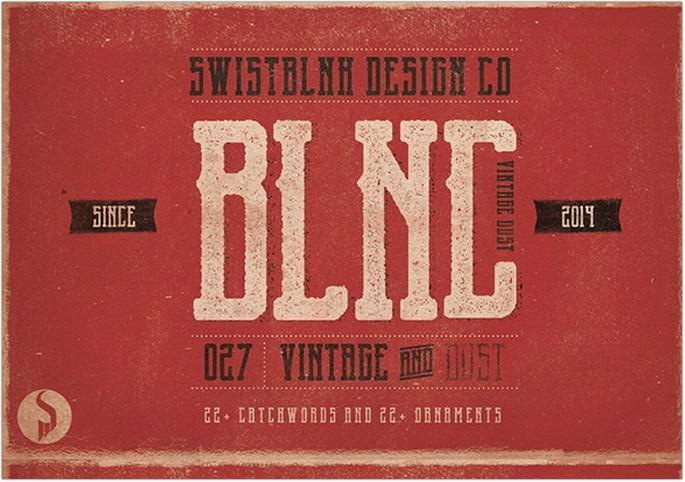 Blnc Vintage Font