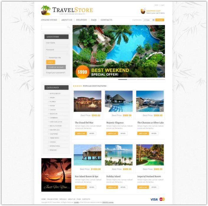 Fly Travel VirtueMart Template
