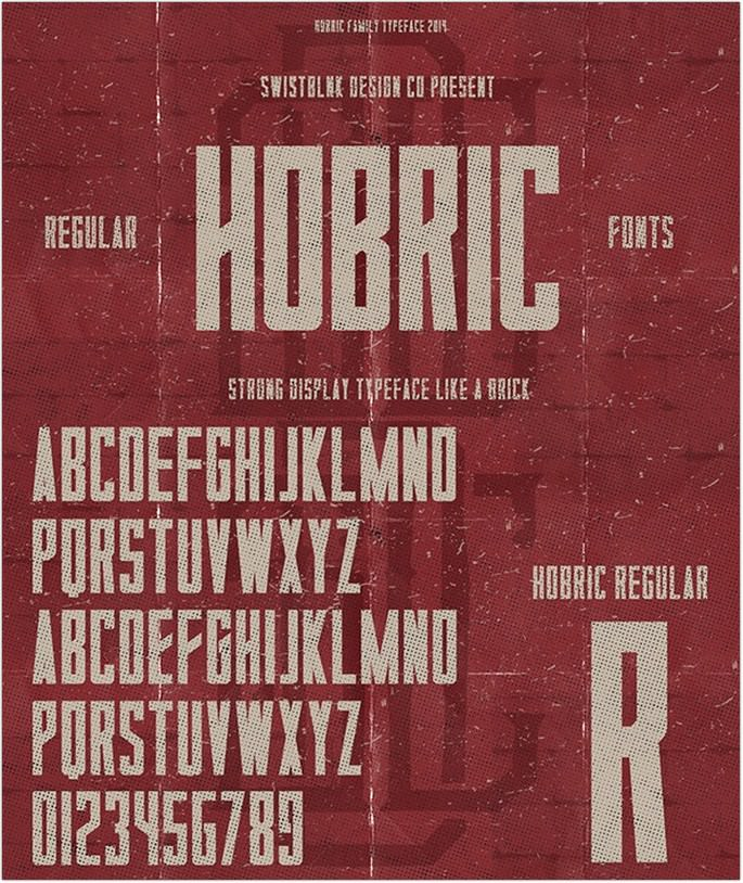 Hobric Regular Font