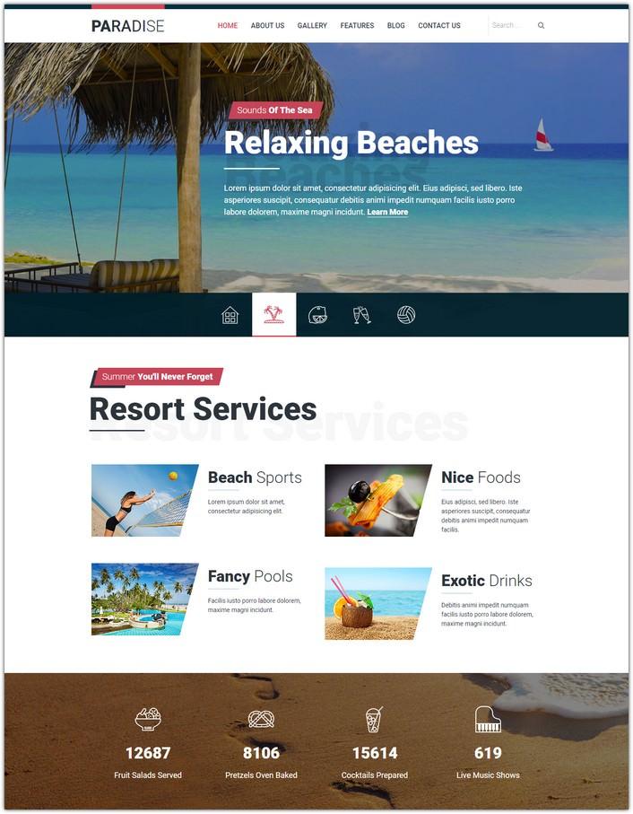 Hot Paradise - Travel Joomla Template