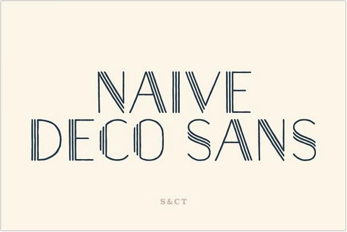 Naive Deco Sans Font