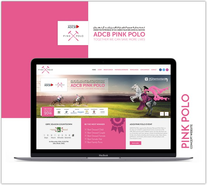 Pink Polo Website Mockup