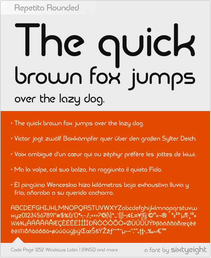 Repetita Rounded Font