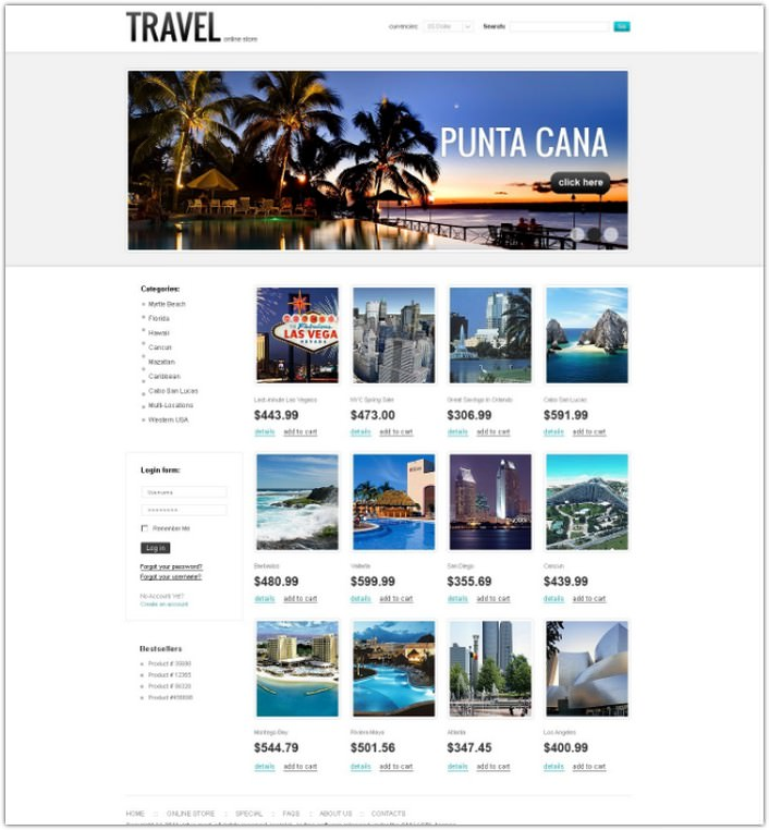 Travel Agency VirtueMart Template