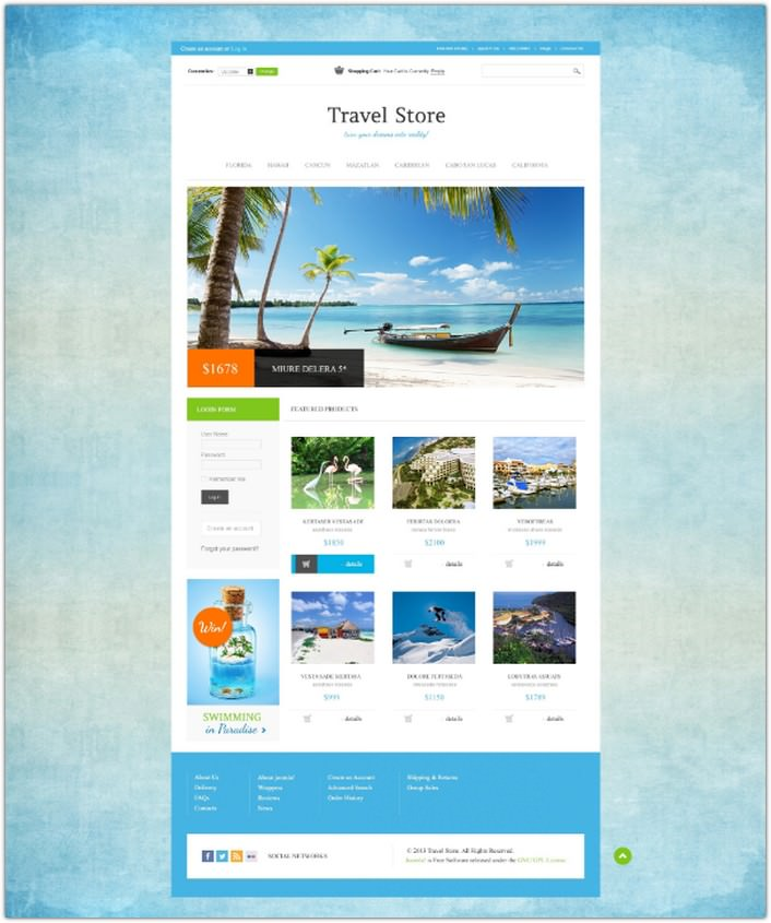 Travel Store VirtueMart Template #