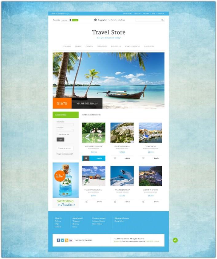 Travel Store VirtueMart Template #