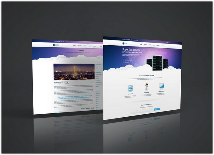 Web Page PSD Mockup